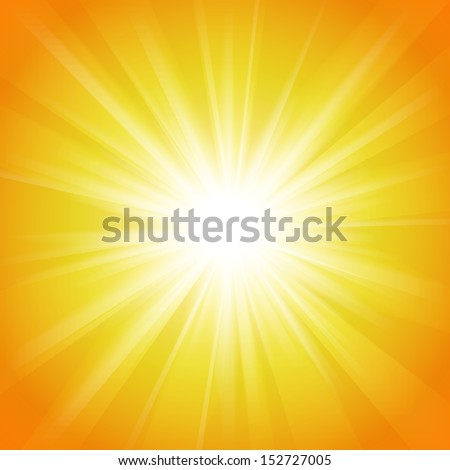Yellow and orange abstract magic light background. Vector illustration for your majestic design. Element for web design. - stock vector