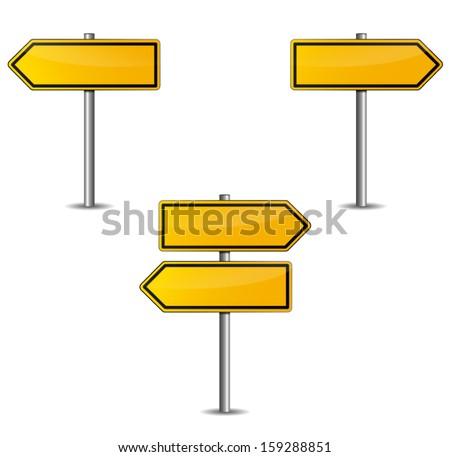 yellow arrow - stock vector