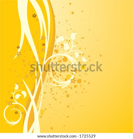Yellow background illustration - stock vector