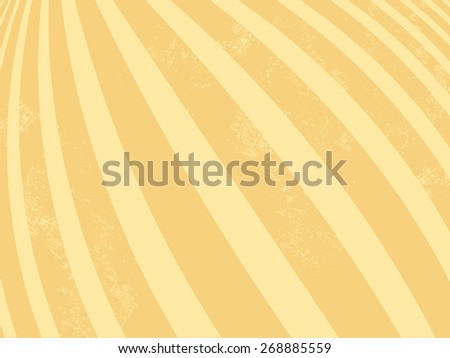 Yellow background - retro striped pattern - abstract lines - stock vector