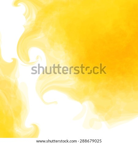 Yellow, background, sun, watercolor - stock vector