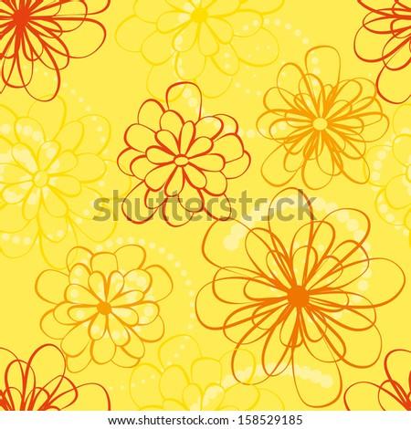 yellow beautiful seamless - stock vector