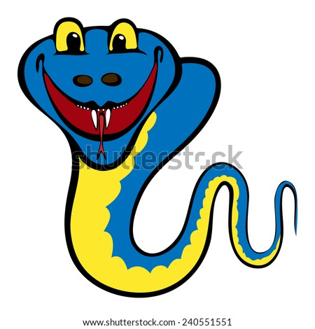 Yellow-blue snake