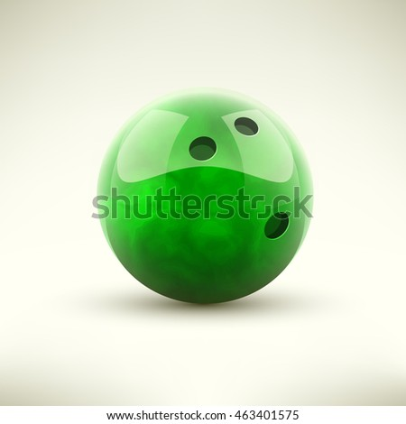 Yellow bowling ball isolated vector illustration