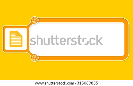 Yellow box with white frame for your text and document - stock vector