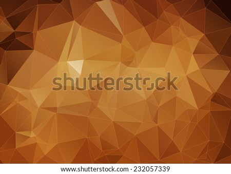 yellow brown polygonal background, Vector  - stock vector