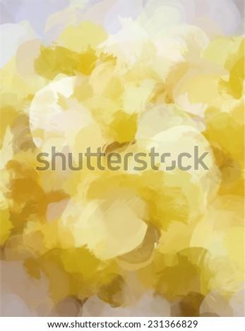 Yellow brush stroke paint. Abstract illustration. - stock vector