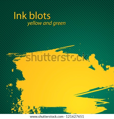 yellow brush stroke - the perfect abstract backdrop for your text - stock vector