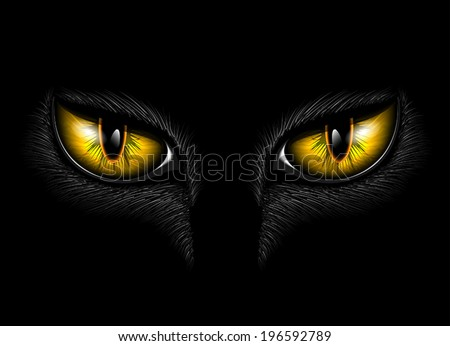 yellow cat's eyes