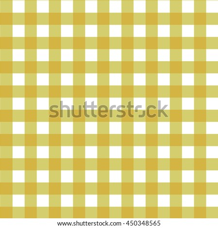 Yellow Checkered Pattern. Seamless Gingham Tablecloth Fabric  Background.Plaid Kitchen Vector Seamless Pattern.
