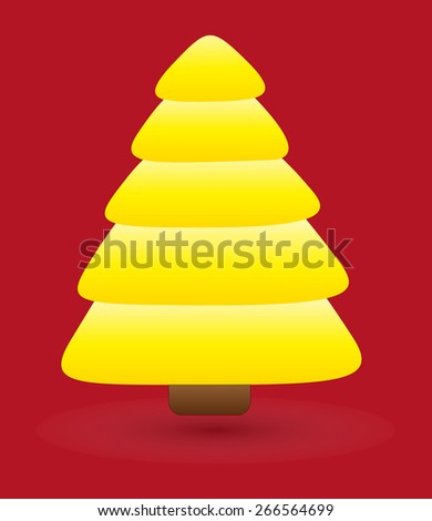 Yellow Christmas Tree Vector