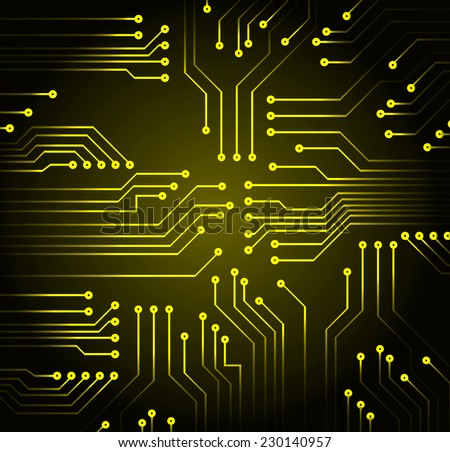 yellow color circuit board vector black stock vector royalty free rh shutterstock com computer circuit board tattoo computer circuit board black and white