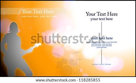 Yellow Concert Flyer - stock vector