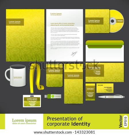 Yellow corporate Identity - stock vector