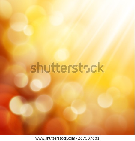 Yellow defocused lights background - eps10 - stock vector