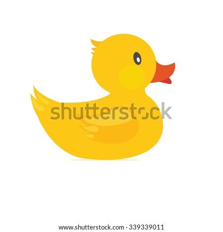 Yellow duck Vector  - stock vector
