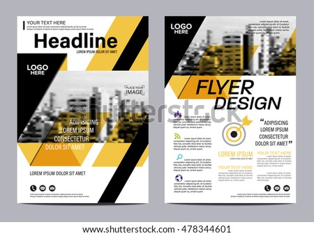Yellow Flat Modern Brochure Layout Design Stock Vector 478344601