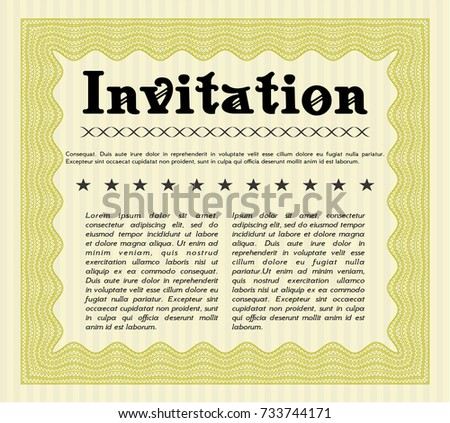 Yellow formal invitation vector illustration quality stock vector yellow formal invitation vector illustration with quality background excellent design stopboris Images