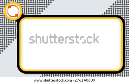 Yellow frame for your text and arrows - stock vector
