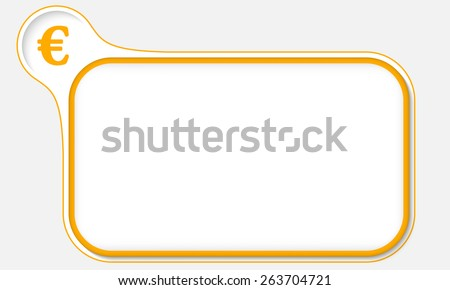 yellow frame for your text and euro symbol - stock vector