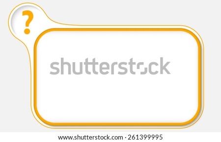 yellow frame for your text and question mark - stock vector