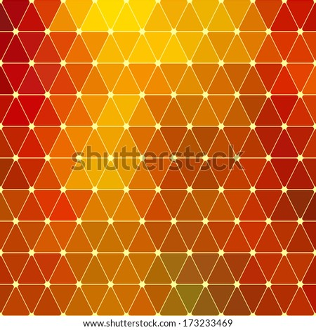 Yellow Geometric Pattern - stock vector