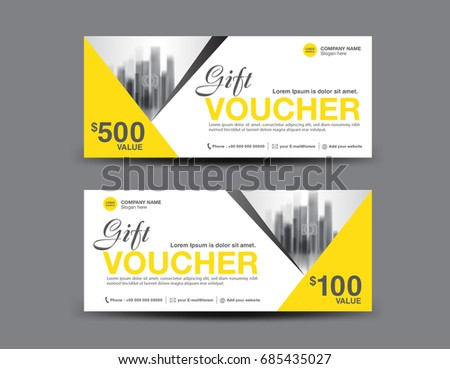 Yellow gift voucher template layout business stock vector 685435027 yellow gift voucher template layout business flyer design polygon background coupon ticket cheaphphosting Images