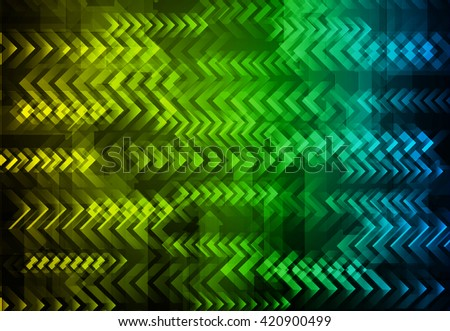 yellow green blue speed arrow network digital communication. technology abstract background vector,hi speed internet technology background - stock vector