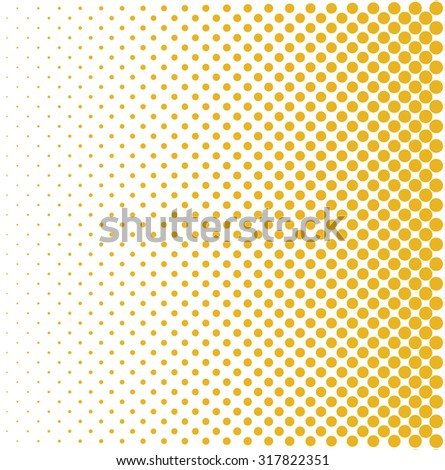 yellow halftone pop art background rounds vector - stock vector