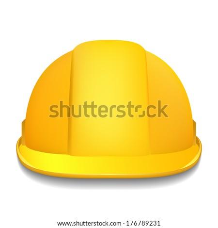 Yellow helmet - stock vector