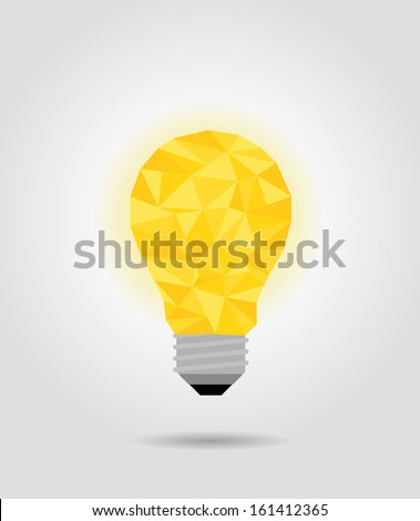 yellow idea bulb, imagine concept - stock vector