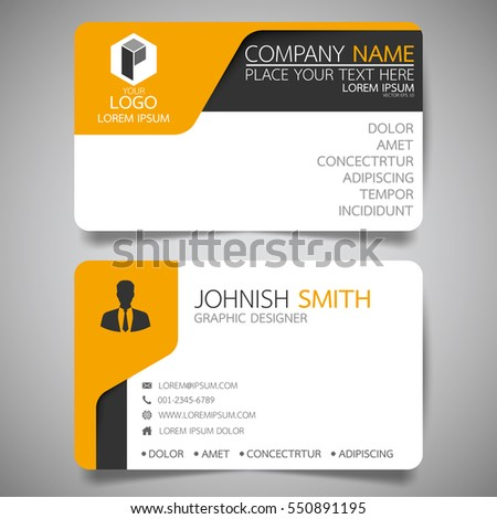 Blue modern creative business card name stock vector 571213345 yellow modern creative business card and name cardhorizontal simple clean template vector design reheart Choice Image