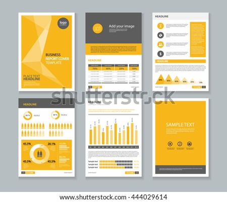 Yellow Page Business Company Profile Annual Stock Vector 444029614    Shutterstock