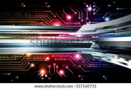 yellow pink blue illustration of technology internet network computer background with binary number, style. infographics. Information. motion blur. pixel. Binary digit. number. vector. silver