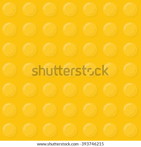 Yellow plastic bubbles seamless pattern. Vector illustration