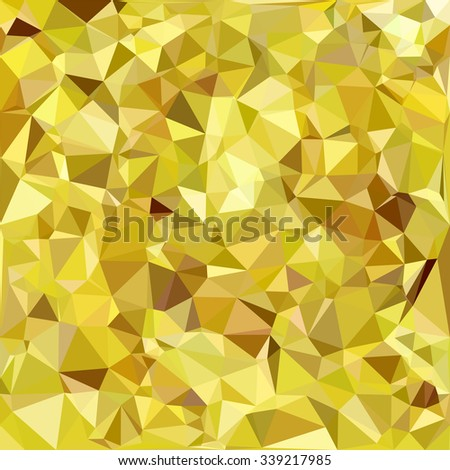 Yellow Polygonal Mosaic Background, Creative Design Templates - stock vector