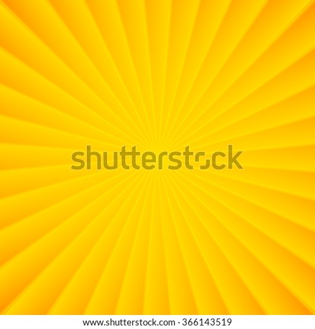 Yellow rays vector carnival background - stock vector