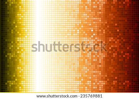 yellow red Vector abstract design. pixels mosaic background computer graphic website and internet.  - stock vector