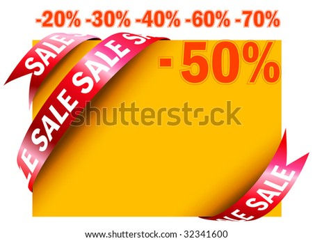 Yellow sale tag in vector - stock vector