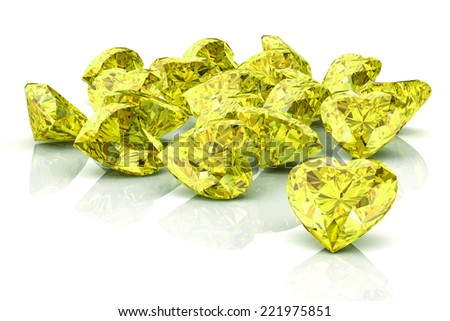 yellow sapphire on white background .Vector illustration. - stock vector