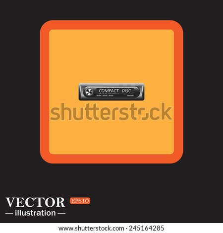 Yellow square on a black background, Modern Car Audio , vector illustration, EPS 10
