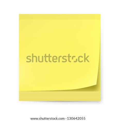 Yellow sticker. Illustration on white background for creative design.