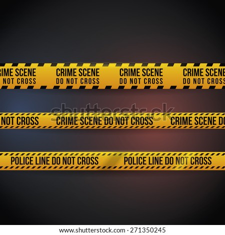 Yellow tape design over black background, vector illustration.