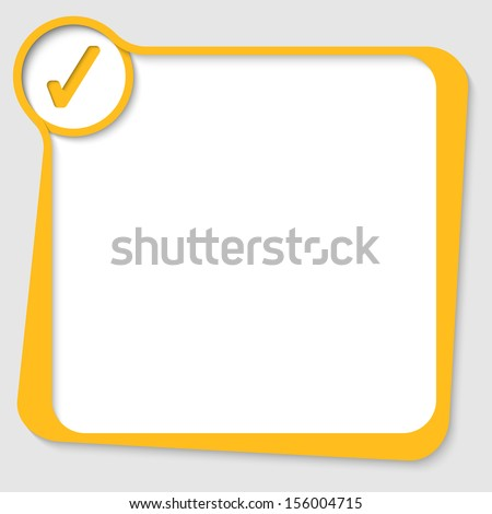 yellow text box with check box - stock vector