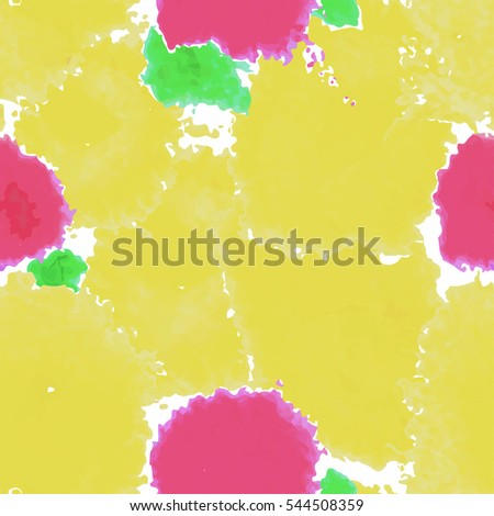 Yellow texture. Vector murble background. Watercolor hand drawn marbling illustration, aqua print. Bright colorfull stains. Cover design, trendy graphic, artistic effect. Abstract painting template.