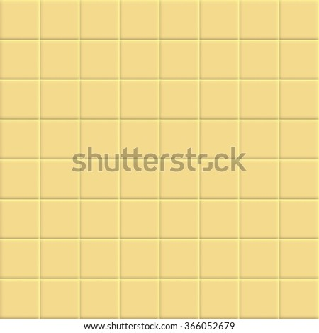Yellow tiles vector texture. - stock vector