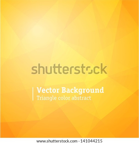 Yellow triangle structure abstract background. - stock vector