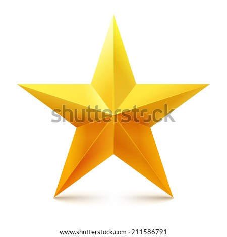 Yellow vector star. - stock vector