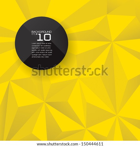 Yellow wallpaper background for cover design , poster , brochure , banner , magazine cover and card design. - stock vector