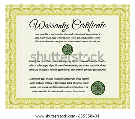 Certificate Template Guilloche Elements Green Diploma Vector – Money Certificate Template